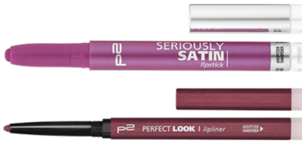 p2 seriously satin lipstick und perfect look lipliner