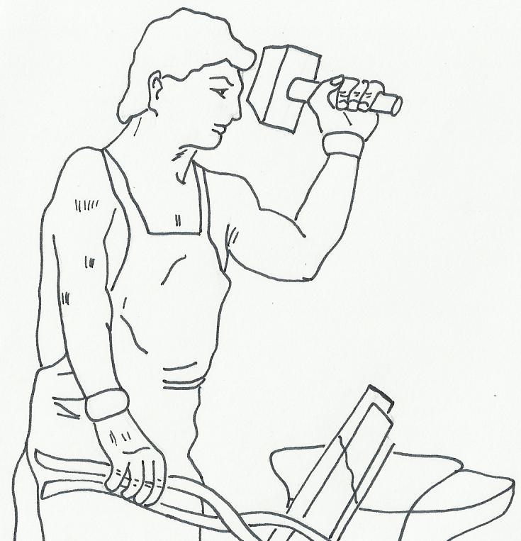 Dibujos de padres trabajadores, responsables y amados.