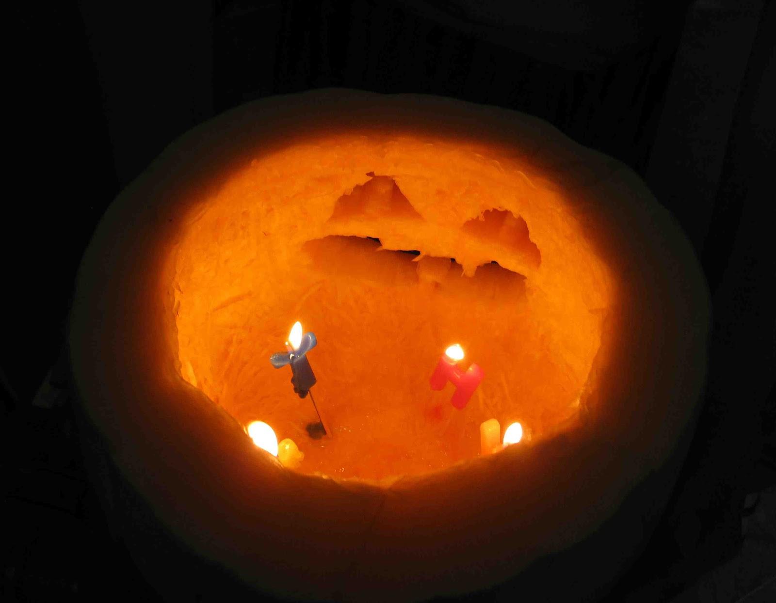 Janelle in egypt carving jack o lanters edfu november