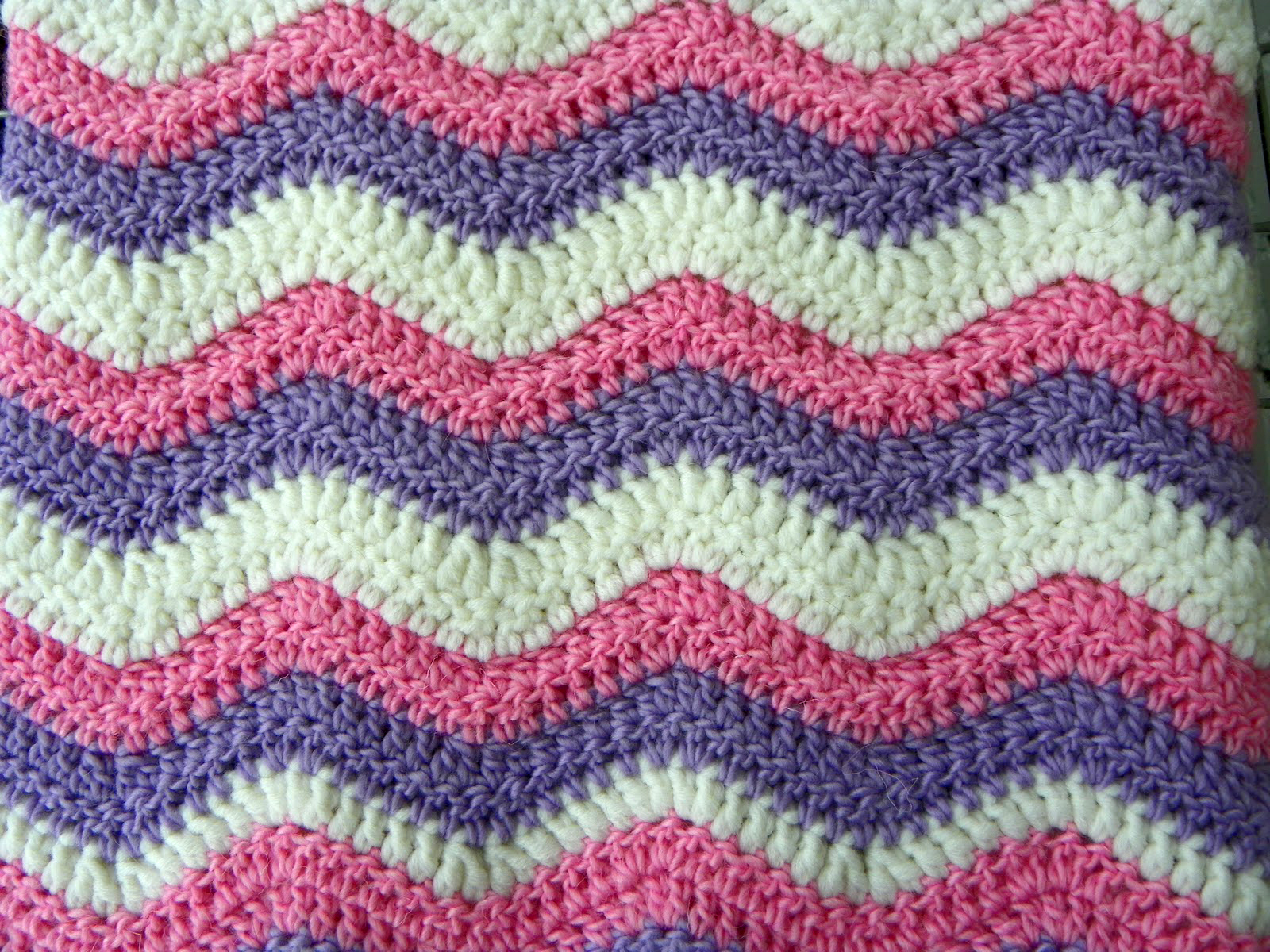 How To Crochet A Ripple Blanket Baby ripple blanket - ta-dah!
