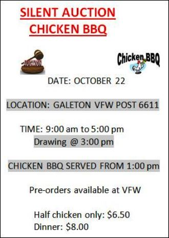 10-22 Silent Auction & Chicken BBQ