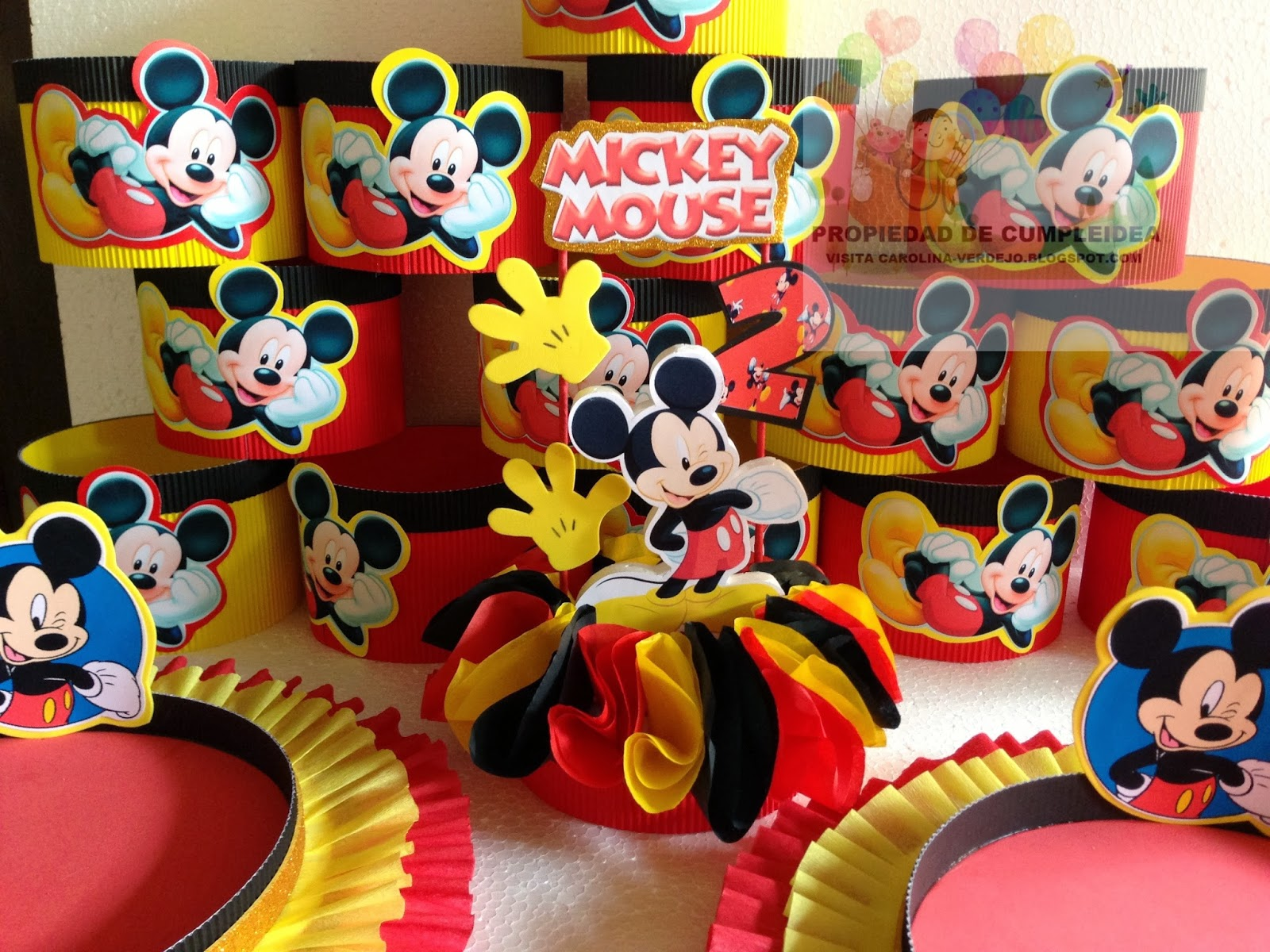 Mickey mouse decoraciones infantiles for Decoracion la casa de mickey mouse