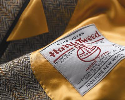 Oryginalna wszywka Harris Tweed