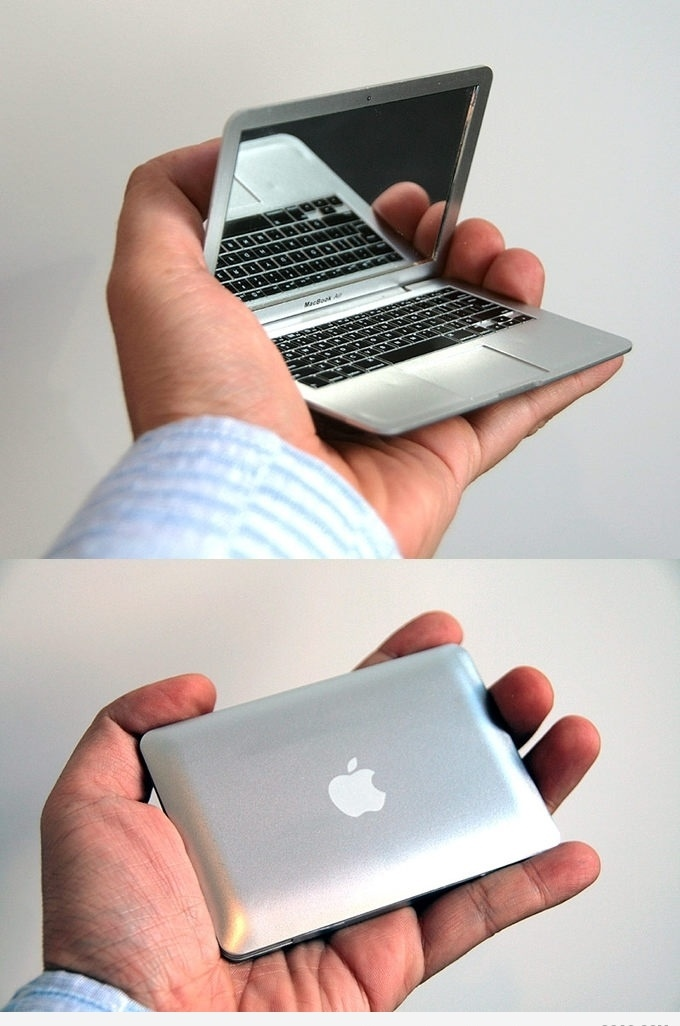 funny MacBook Air Becomes Very Small and Definitely in your Pocket