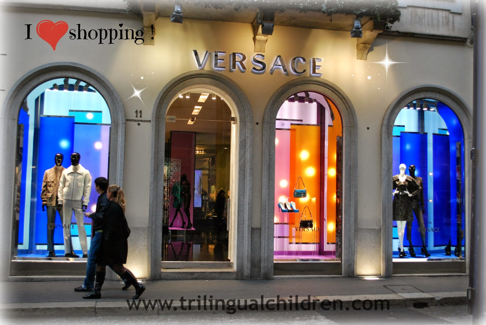 Versace store Milan Italy