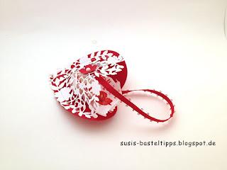 Stampin Up stanze blühendes herz als geschenkverpackung zu Valentin und hochzeit, hochzeitsdeko, gastgeschenk