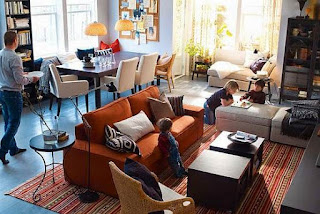 IKEA living room brown