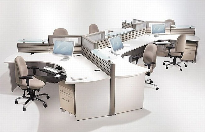 open office spatial design concept for harmonic officers interaction