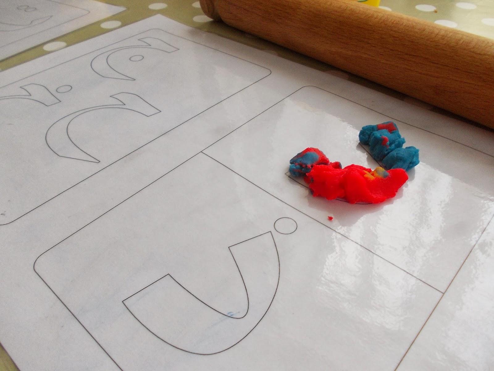 Arabic Alphabet playdough