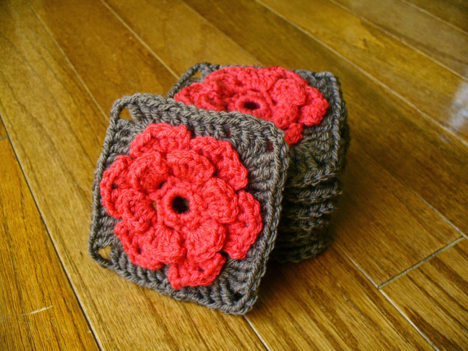 Sanity by Stitches: Rose Granny Square - Pattern