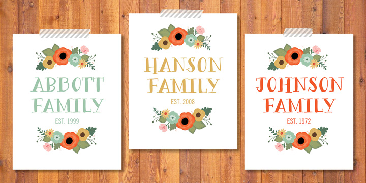 Kimberly Church || Floral Custom Name Printable