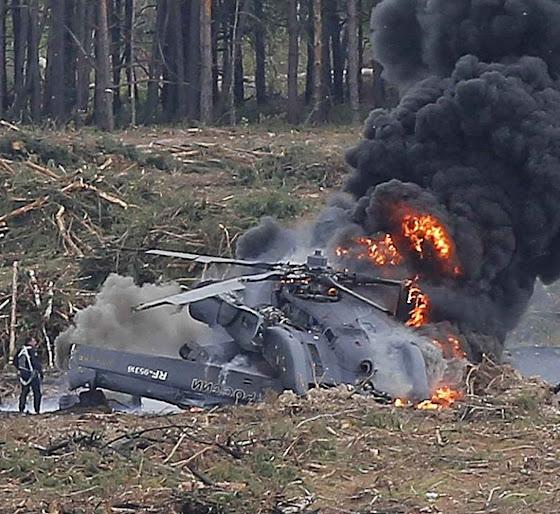 Queda de helicóptero de ataque de nova geração em Riazan