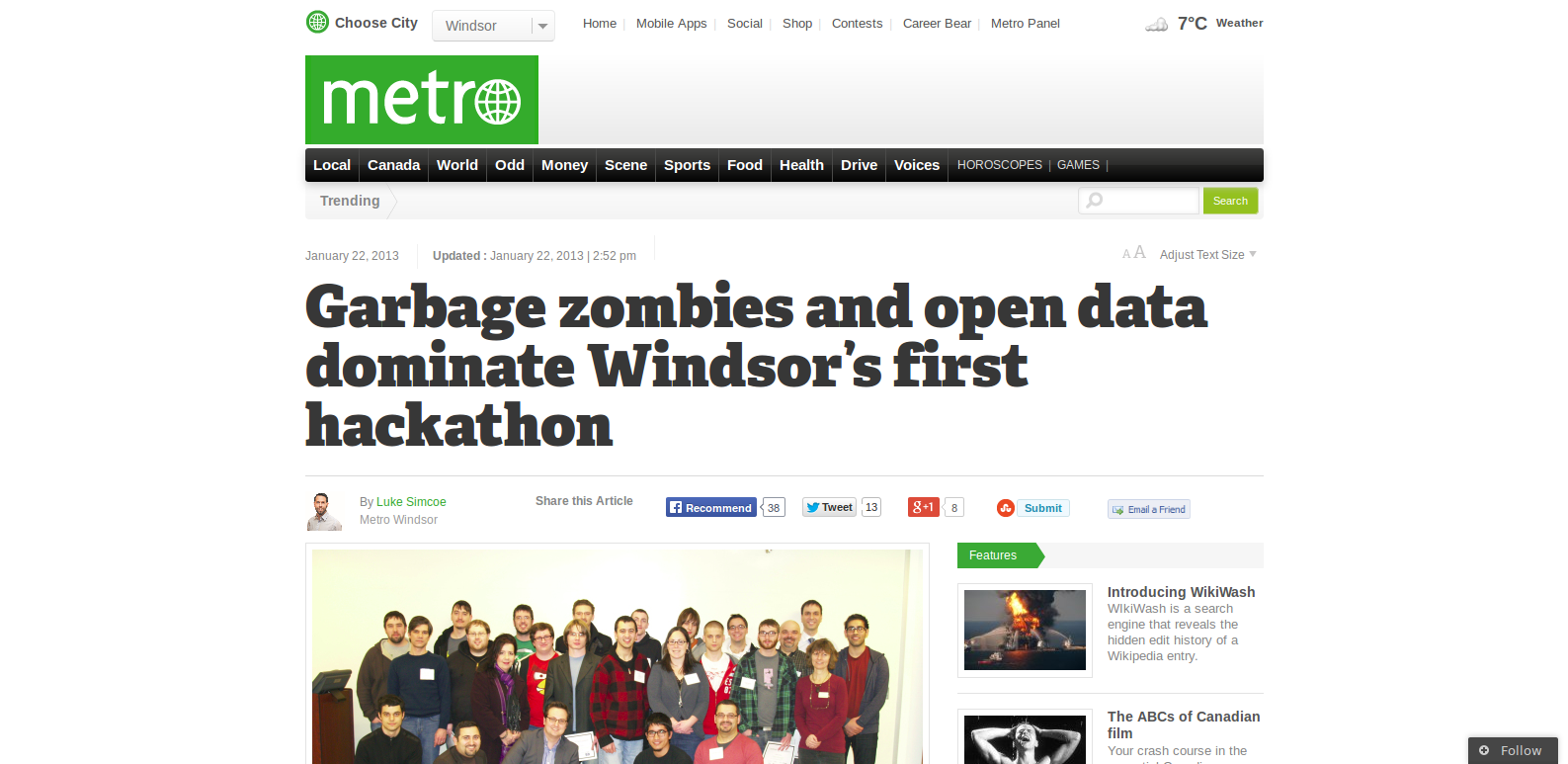 http://metronews.ca/news/windsor/519051/garbage-zombies-and-open-data-dominate-windsors-first-hackathon/