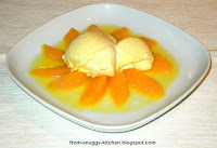 Zitronencreme mit Orangensalat)