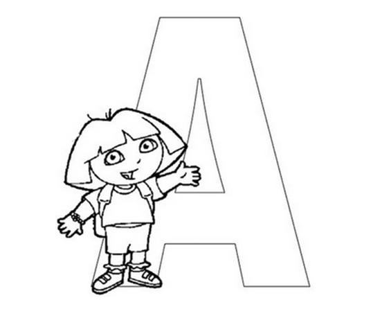Dibujo de Dora la exploradora para colorear,Dibujo de la ...