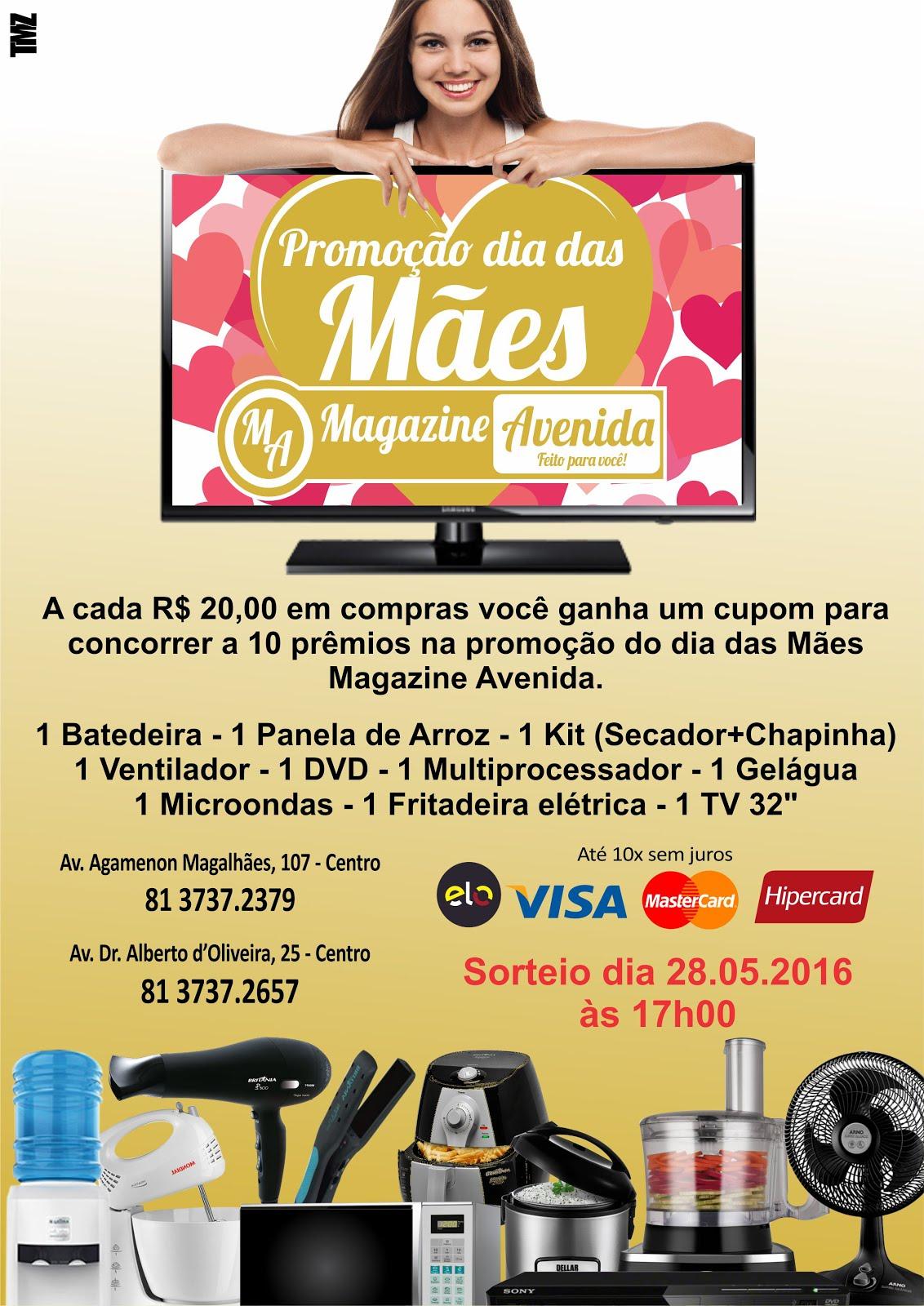 Promoção dia das Mães Magazine Avenida