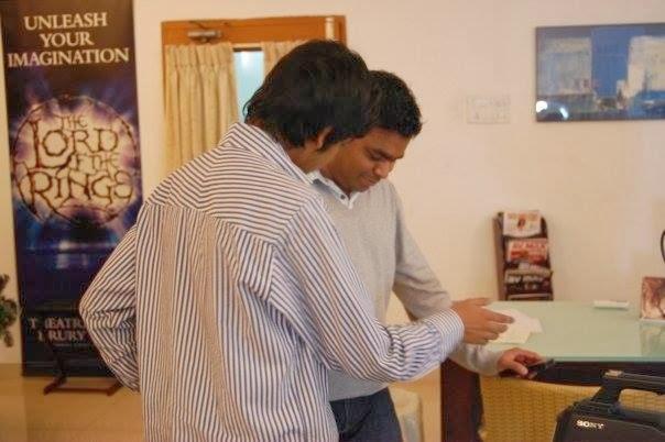 Varun Agarwal with A.R.RAHMAN