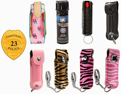 Pepper spray with 23% concentration, versus regular units that only have 10%.
