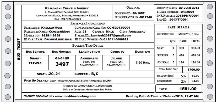 Bus ticket ticket sample 01 02 modi bus booking