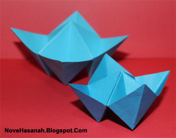 cara membuat origami yang mudah untuk anak TK, SD, dan pemula berbentuk kotak perhiasan