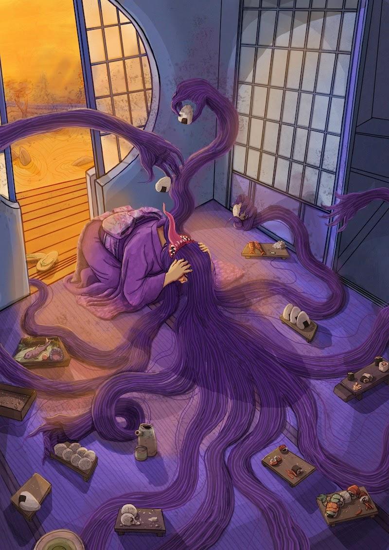 Crazy and Kawaii Desu, Folclore Japonês, FutaKuchi Onna, Kawaii Desu,