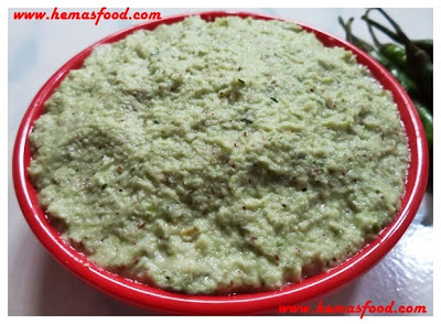 Green Chilly Coconut Chutney