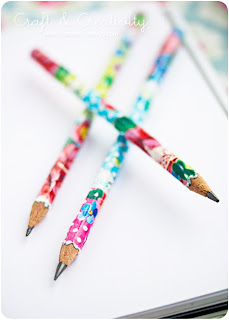 Reciclatex Cómo hacer lápices decoupage