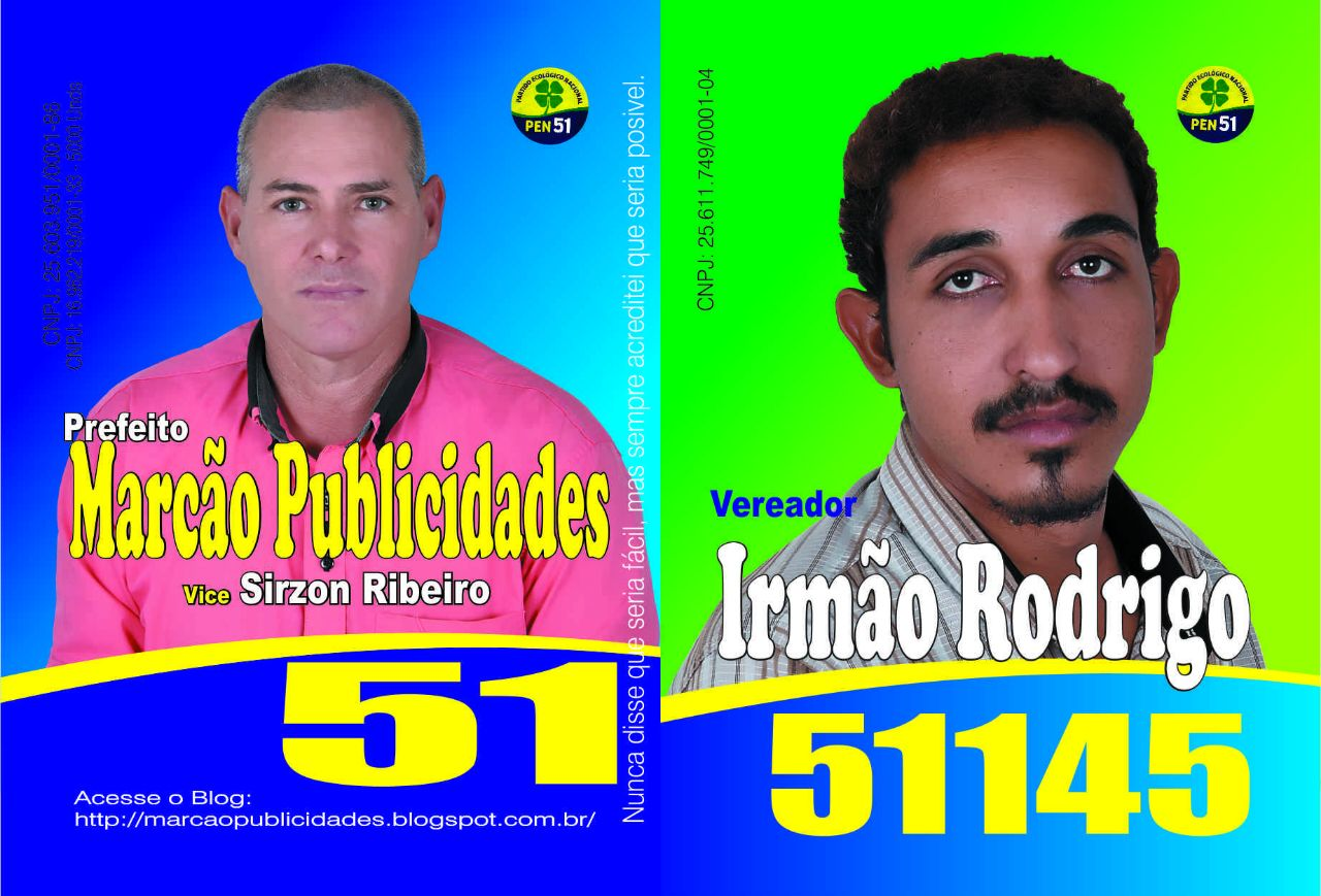 Candidatos a vereadores do PEN 51