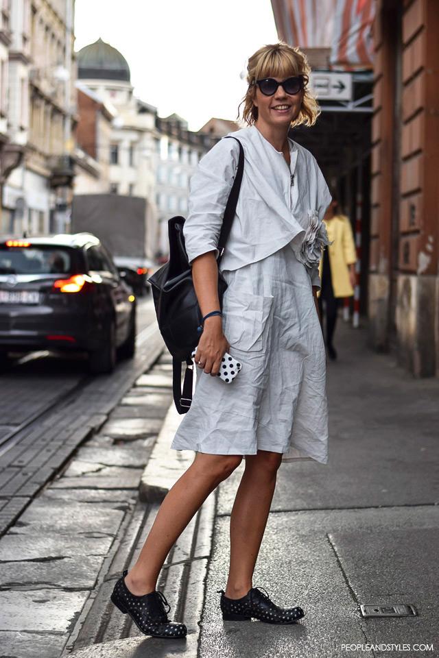 Street style look Ane Petričić Gojanović, direktorice i vlasnice PR agencije PRiredba studio. Ulična moda, rujan 2015., Zagreb