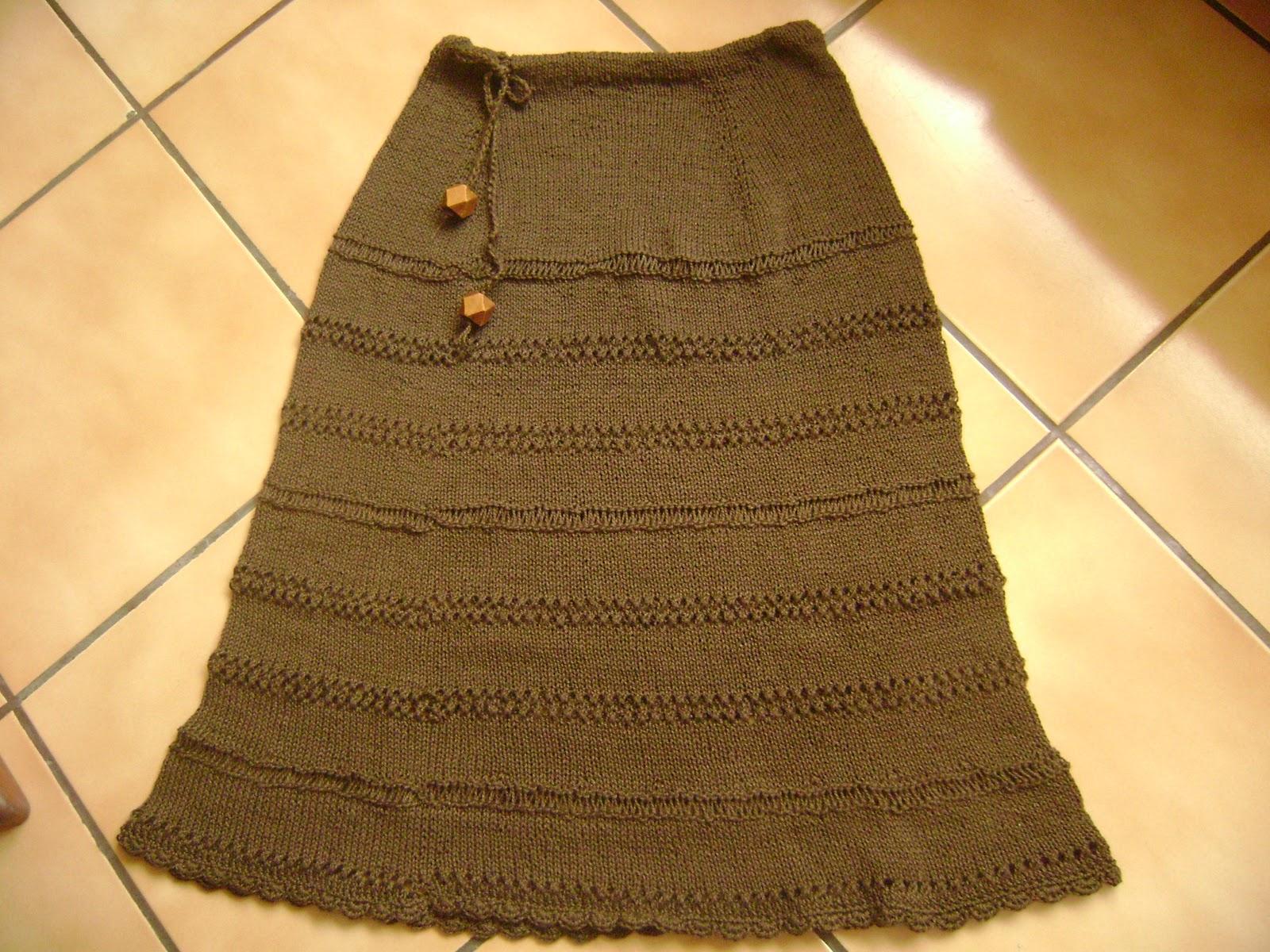 Entretejida: ¡¡ Falda de algodón a 2 agujas !! Patrón