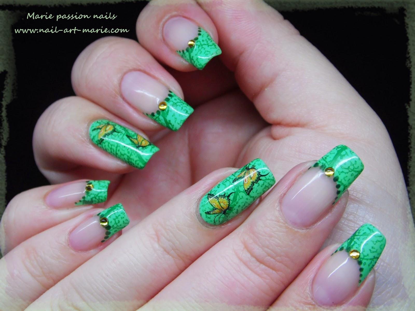 Nail art French nature1