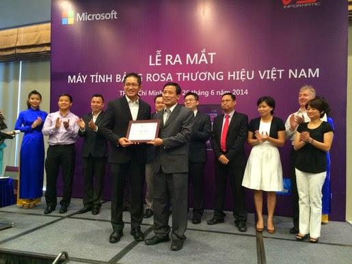 Giới thiệu máy tính bảng Rosa thương hiệu Việt