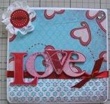 Scrapbooking - Cartão Love