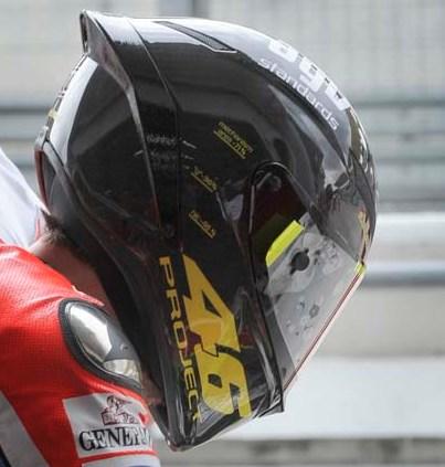 Gallery Valentino Rossi Helmet Prototype At MotoGP 2012 Pre Season Test