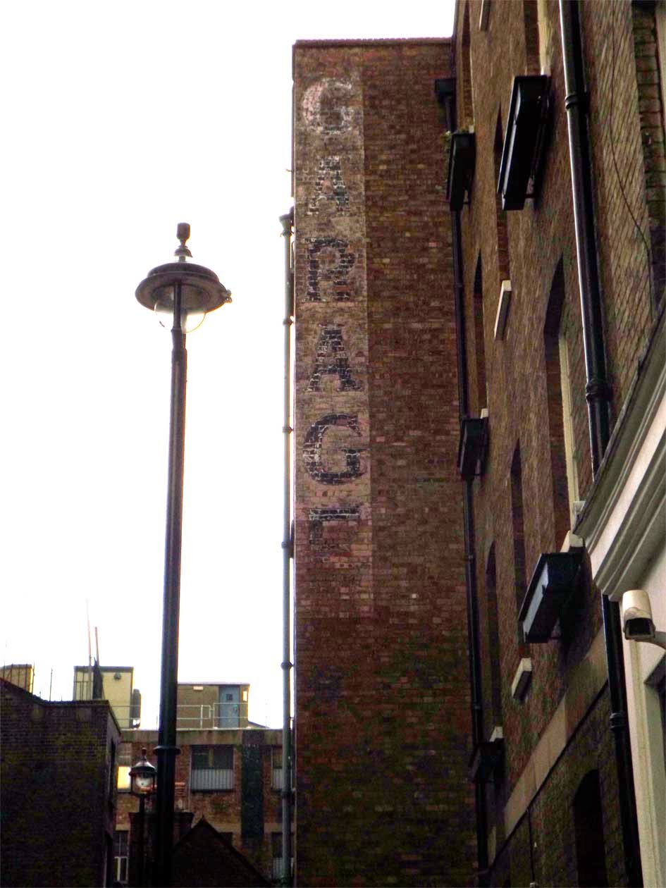 lex garage ghost sign london