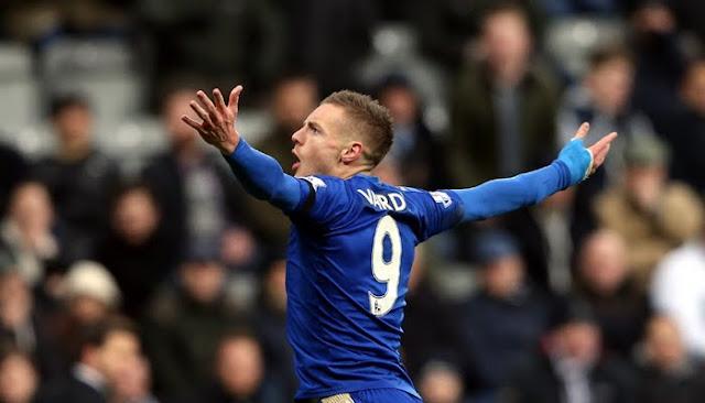 Leicester's Jamie Vardy breaks scoring record