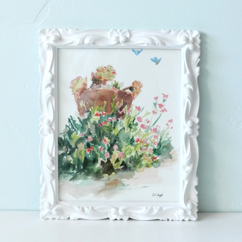 Painted White Thrift Store Picture Frame