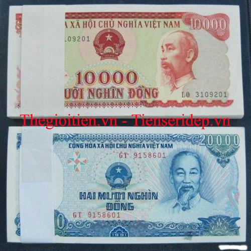 Tiền 10 000 cotton đỏ