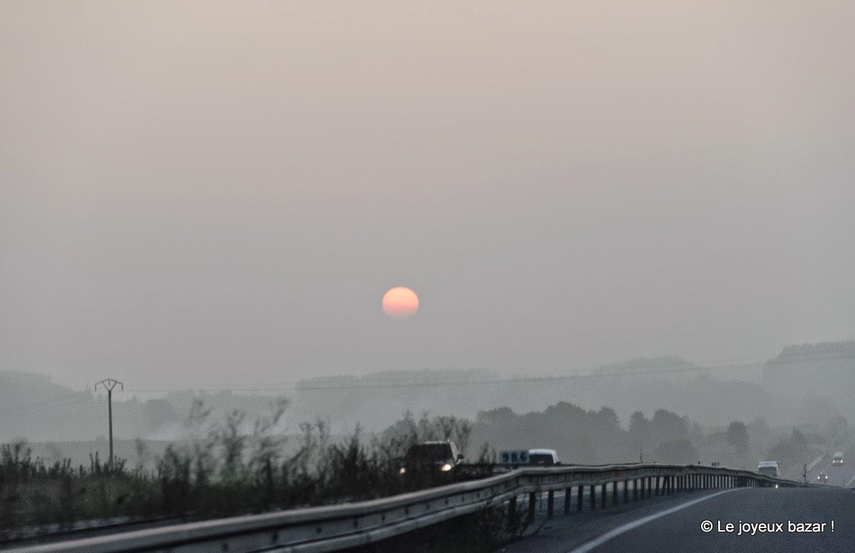 road trip - lever de soleil