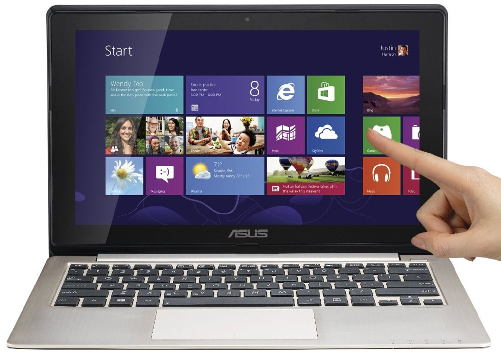Asus vivobook x202e dh31t new touch screen windows 8 laptop for Latest windows for pc