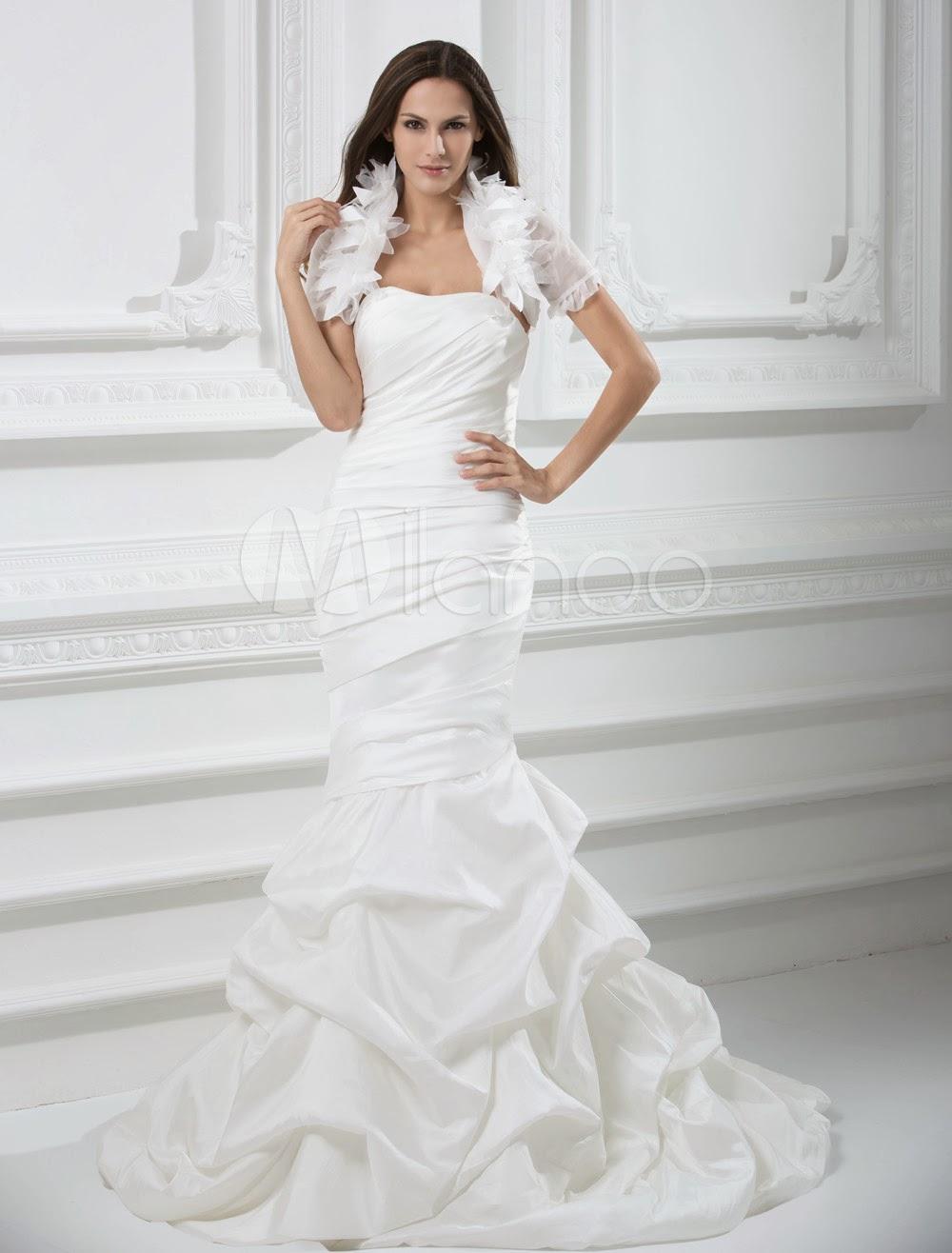 China Wholesale Dresses - Style Strapless Mermaid Trumpet Taffeta Wedding Dress