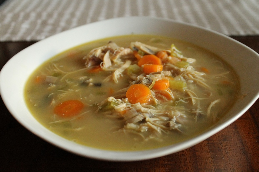 Katie.J.Gibson: Chicken Shiitake and Wild Rice Soup