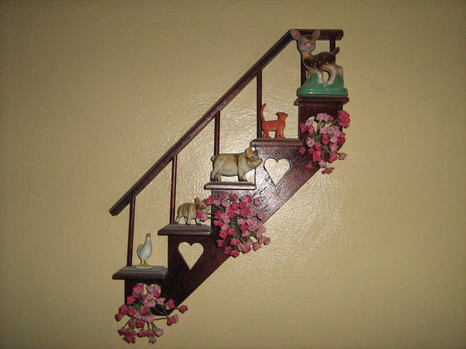 Productos de madera caribaea repisas decorativas modelo for Repisas para escaleras