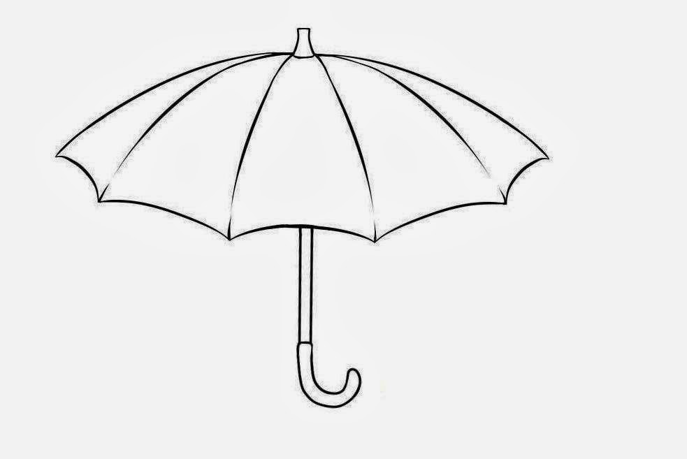 Colour Drawing Free HD Wallpapers Umbrella For Kid Coloring Page