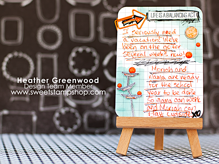 Heather Greenwood | Project Life journal card using Monkey Business by Sweet Stamp Shop