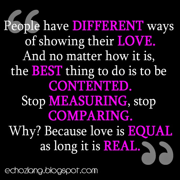 People have different ways of showing their love.