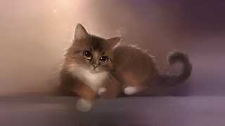 Sweet Cat Painting HD Wallpaper