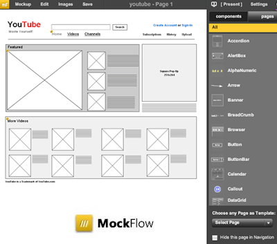 MockFlow - Online tool for creating wireframes of software and websites