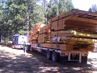 Wall panels arriving at the job site