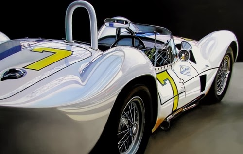 03-Birdcage-Cheryl-Kelley-Chrome-Muscle-Cars-Hyper-realistic-Paintings-www-designstack-co